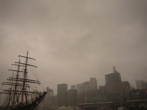 Sydney sous la pluie