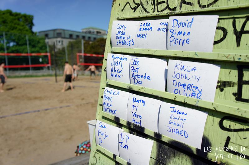 blog pvt canada montreal tour du monde voyage couple tableau tournoi volley