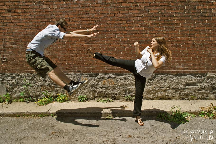 couple fight kick dispute pvt canada montréal dangerous