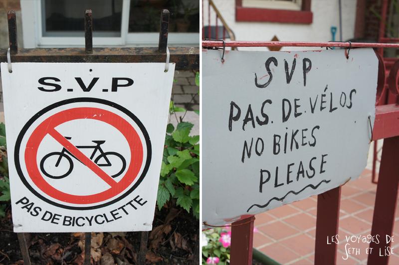 blog canada montreal voyage pvt insolite drole velo panneau interdit