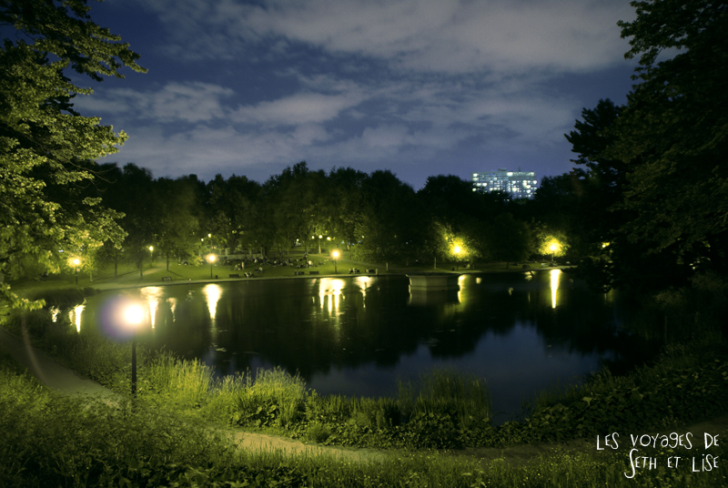 blog canada montreal voyage pvt whv parc lafontaine night nuit vegetation