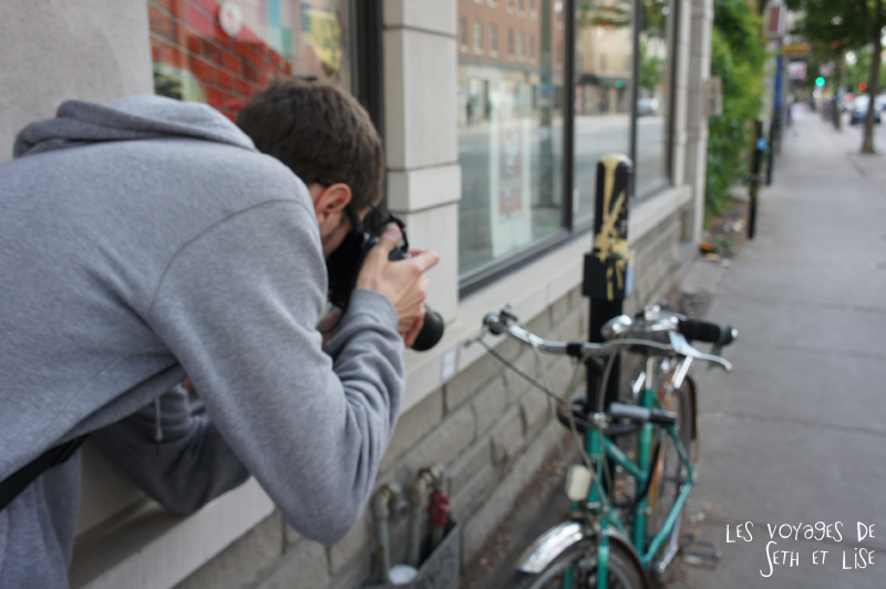 blog canada montreal voyage pvt insolite drole velo fixie hipster bike photo blur