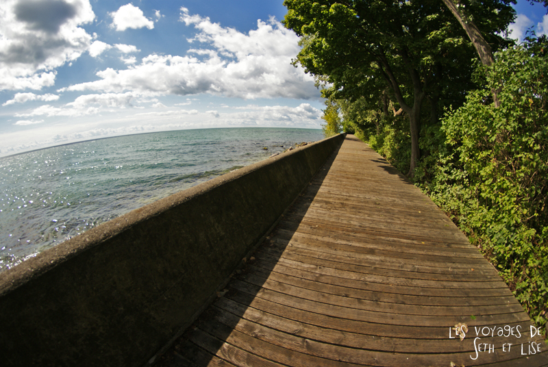 pvt canada toronto couple blog iles island ferry voyage tour du monde ontario persepctive loin
