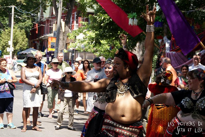 blog voyage canada pvt toronto kensington pedestrian market hippie chill alladin aladdin dance bellydance danse