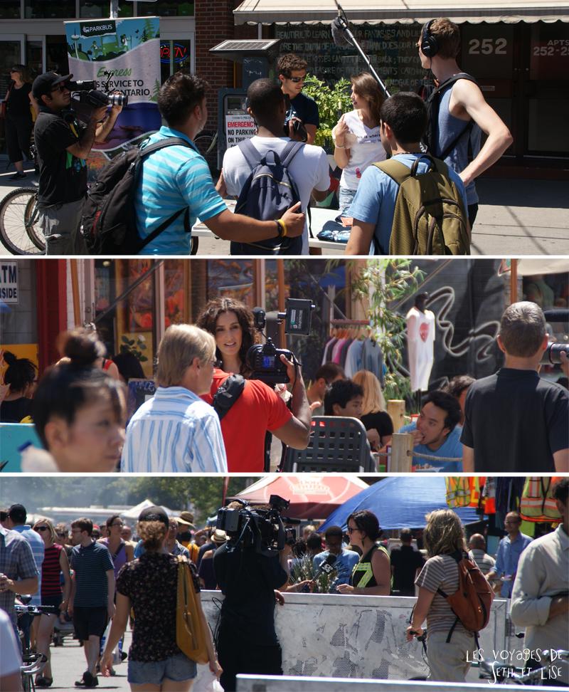blog voyage canada pvt toronto kensington pedestrian market hippie chill media journalist journalisme speaker show tv crew chick