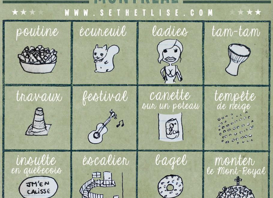 Montréal bingo (ou que faire à Montréal)